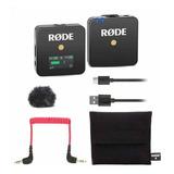 Microfone Com Acessórios Rode Wireless Go Condensador Omnidirecional Preto