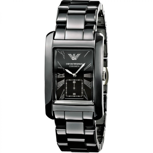 Relógio Emporio Armani Quadrado Cerâmica Original Nf Ar1406 2cc7665a77