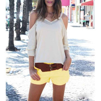 Short Shortinho Feminino Colorido Color Outlet Cia Fashion