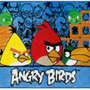 Tapete Infantil Estampa Sociedade Angry Birds 80x1,20 - Joli
