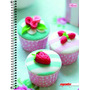 Caderno Flex 10 Matérias 200 Fls Mais+ Feminino Cup Cake