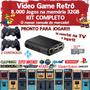 Game Retrô 7500 Jogos + 2 Controles + 32gb + Filmes E Séries