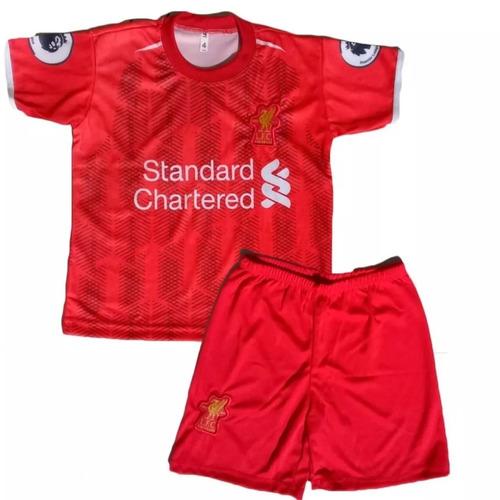 ae6dda3f4d Conjunto Liverpool Infantil Futebol Conjunto Novo 2019