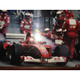 Pôster De Michael Schumacher. Pit Stop Da Ferrari