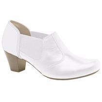 Sapato Branco Social Feminino Campesi Couro Legitimo+brinde