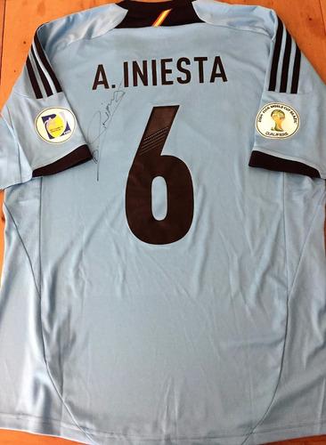 Camisa Espanha Eliminatórias 2014 Autografada Andrés Iniesta 66944e017e37c