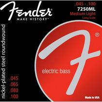 Encordoamento Baixo Fender 4 Cordas Aço 045 Niquelado 7250ml