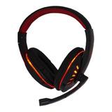 Fone De Ouvido Gamer Exbom Hf-g310p4 Black E Red E Red Light