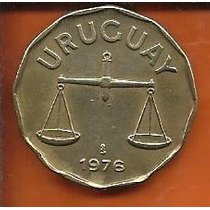 Moeda Uruguai 50 Centesimos Pesos 1976 Balança 26mm