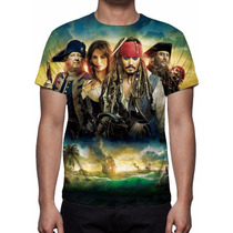 Camisa, Camiseta Filme Piratas Do Caribe 4 - Estampa Total