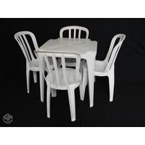 Conjunto De Mesas E Cadeiras De Plástico Goyana Origin 140kg