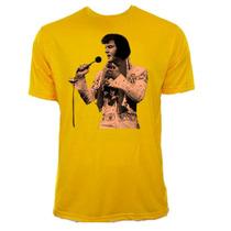 Camiseta Infantil Amarela Elvis Presley Rock Rei 02