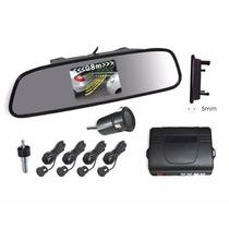 Espelho Retrovisor C Câmera Infra Sensor Estacionamento Ré