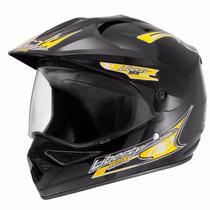 Capacete Motocross Liberty Mx Vision Preto 58 C/ Viseira