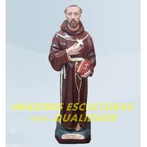 Escultura São Francisco Da Chagas Linda Imagem 60cm Promoção