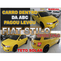 Stilo Sporting Com Teto Solar Ano 2009 Financiamento Facil