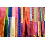 Poster (91 X 61 Cm) Colorful Silk Scarves At Edfu Market