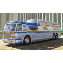 Miniatura De  Ônibus  Greyhound Scenicruiser Americano 1:43