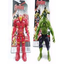 Kit Boneco Incrivel Hulk Avengers Vingadores Hulkbuster 15cm