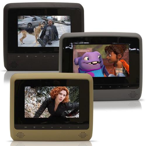 Dvd Player Tela Para Encosto De Cabeça 7 Lcd Com Game Usb Sd