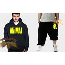 Conjunto Animal ( Calça + Blusa ) Moletom Canguru- Promoção!