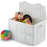 Caixa Dobrável Empilhável 52 L Guarda Brinquedo Roupa Closet