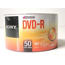 50 Midia Dvd-r Virgem Sony 16x 4.7gb C/ Logo Novo Lacrado