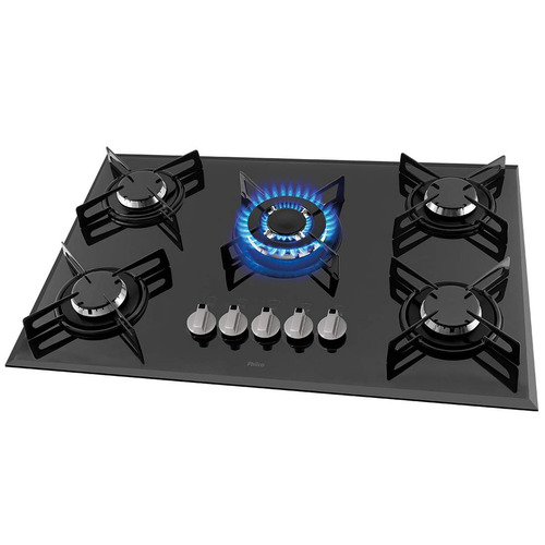 Cooktop 5 Bocas Philco Preto Bivolt - Cook Chef 5tc