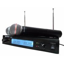 Kit Microfone Sem Fio E Receptor Profissional Amplificador
