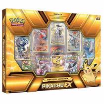 Box Pokemon Coleção Lendária Pikachu Ex Copag Em Português