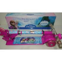 Patinete Infantil Frozen 3 Rodas C/luzes Frozen-lançamento