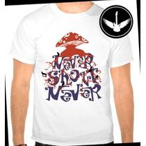 Camiseta Never Shout Never Baby Look Regata Banda Rock Blusa