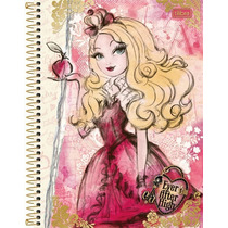 Caderno Espiral Capa Dura 10 Matéria Ever After Hight 200fls