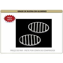 Grade De Buzina Do Paralama Fusca Alumínio - Preço Par.