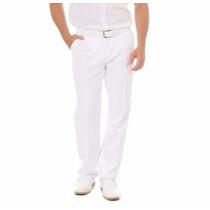 Calça Branca Medico Social Masculina Enfermeiro Farmaceutico