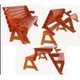 Projeto Kit Cadeira Vira Escada + Mesa Vira Banco + 2 Brinde