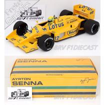 1/18 Minichamps Lotus 99t Honda Turbo Ayrton Senna F1 1987