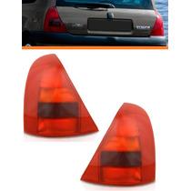 Lanterna Traseira Clio Hatch 99 00 2001 02 Vermelha Par