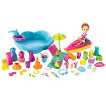 Polly Pocket Super Conjunto Diversão Na Praia Bhj62 Mattel