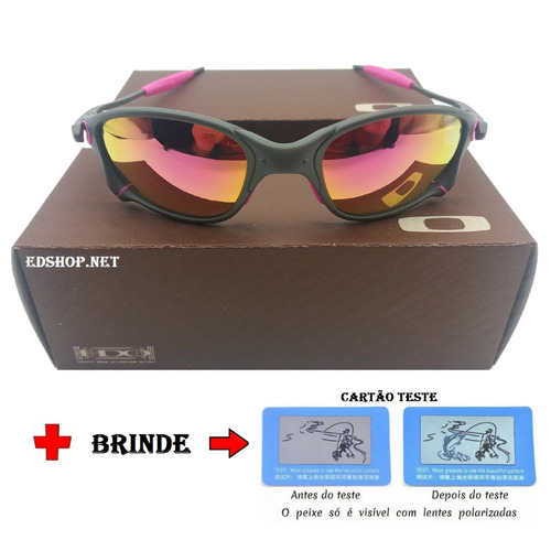2a6c4aa0d729c Óculos Oakley Double 24k Squared Rosa Pink + Certificado