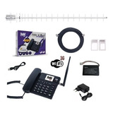 Kit Telefone Celular Rural De Mesa 3g + Wifi + Antena 20 Dbi