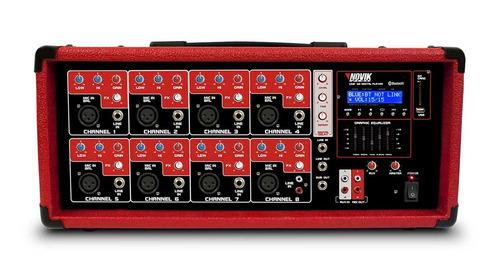 Mixer Amplificado 8 Canais Novik Neo Nvk 8500bt
