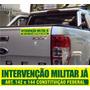 Adesivo Intervenção Militar Já Art 142 Protesto 10un 25x5cm