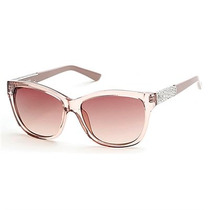 Óculos De Sol Guess Acetato Bege Translúcido Gu741757f