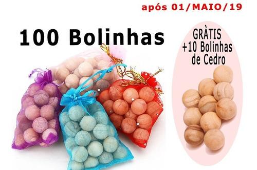 100x Bolinhas De Cedro Roupas Anti Traça Mofo Bolor + Brinde