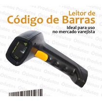 Leitor Codigo De Barras Laser Alcance 30cm Cabo Usb 180cm