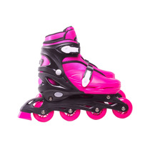 Patins Roller Infantil Inline Belsports Rosa G 37 Ao 40