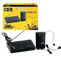Microfone Sem Fio Headset Skp Vhs 855 Alcance 30 Metros Novo