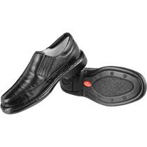 Sapato Linha Conforto Pelica Anti Stress Macio Super Leve