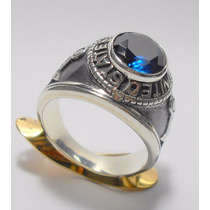 Anel Pedra Zirconia Prata 950 Masculino Usa Frete Gratis
